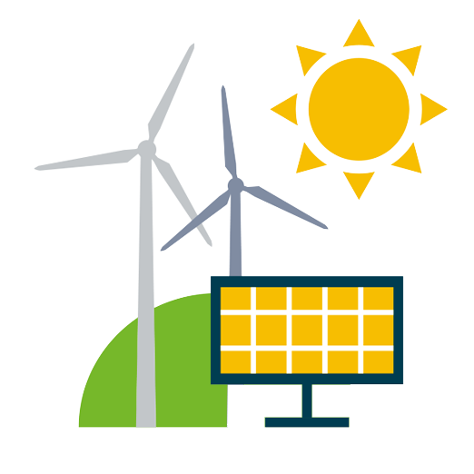 Renewables for industry icon